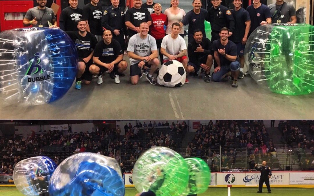 SD Police vs. SD Firefighters at SD Sockers Halftime Event