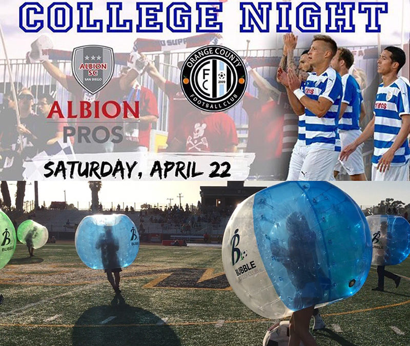 Bubble Soccer Club Halftime Highlights from Albion Pros mens soccer game!
