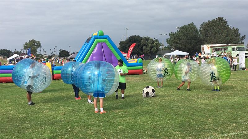 "Bubble Soccer Club at 1st Annual ""Run for Fun"" Albion 5k run on 17 September 2017!"